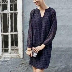 CAbi Diamond Harlequin Purple Shirt Dress